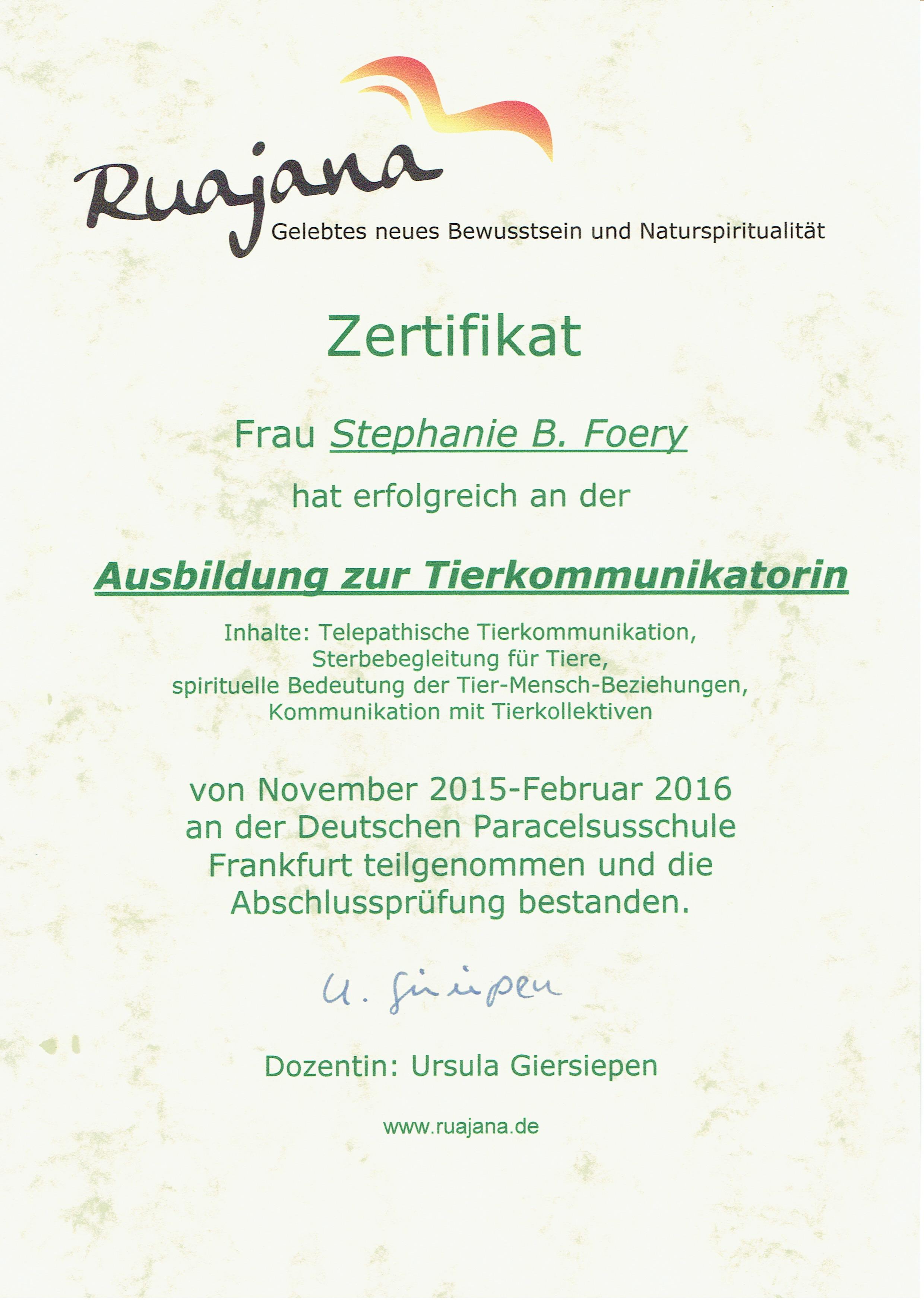 TK Zertifikat Giersiepenn