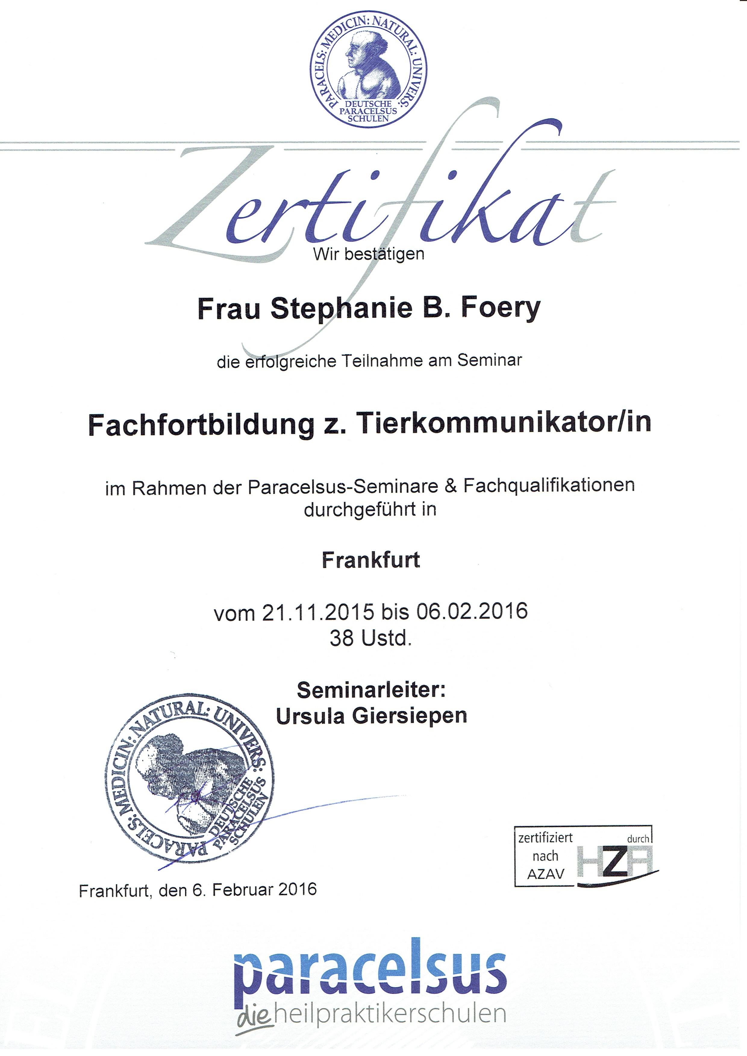 TK Zertifikat Paraceksusschule